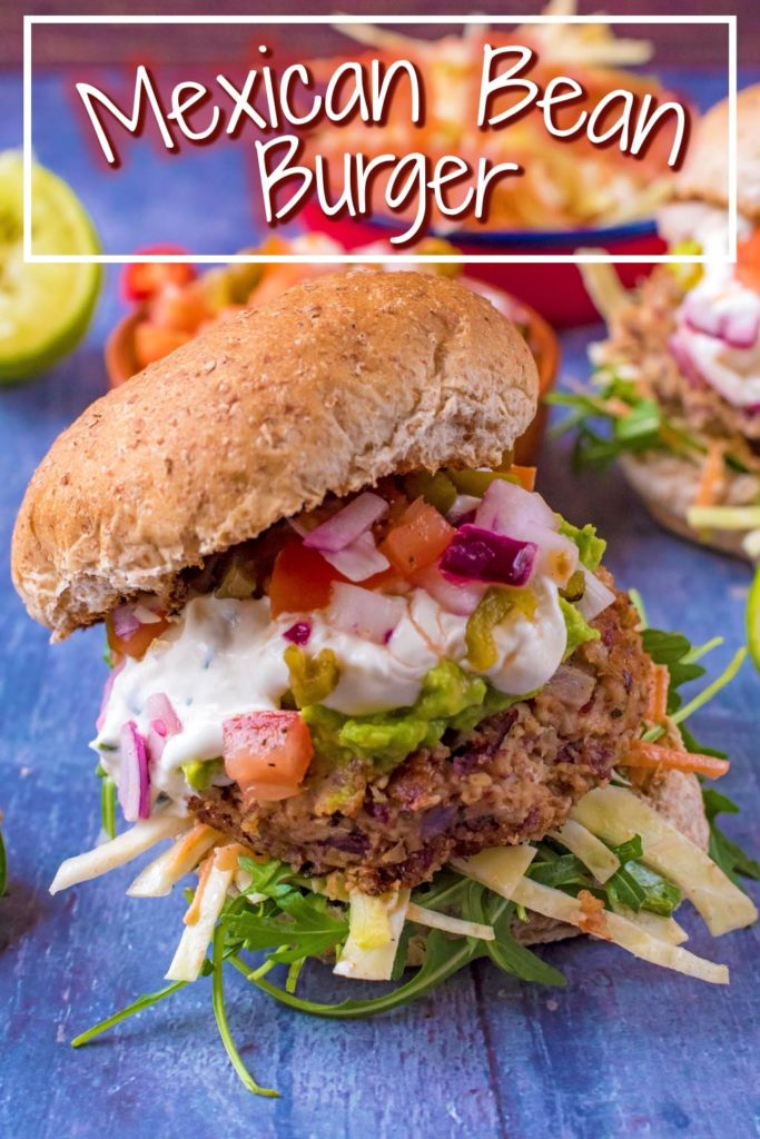 Mexican Bean Burger title picture