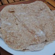 Whole Wheat Tortilla wraps on a white plate