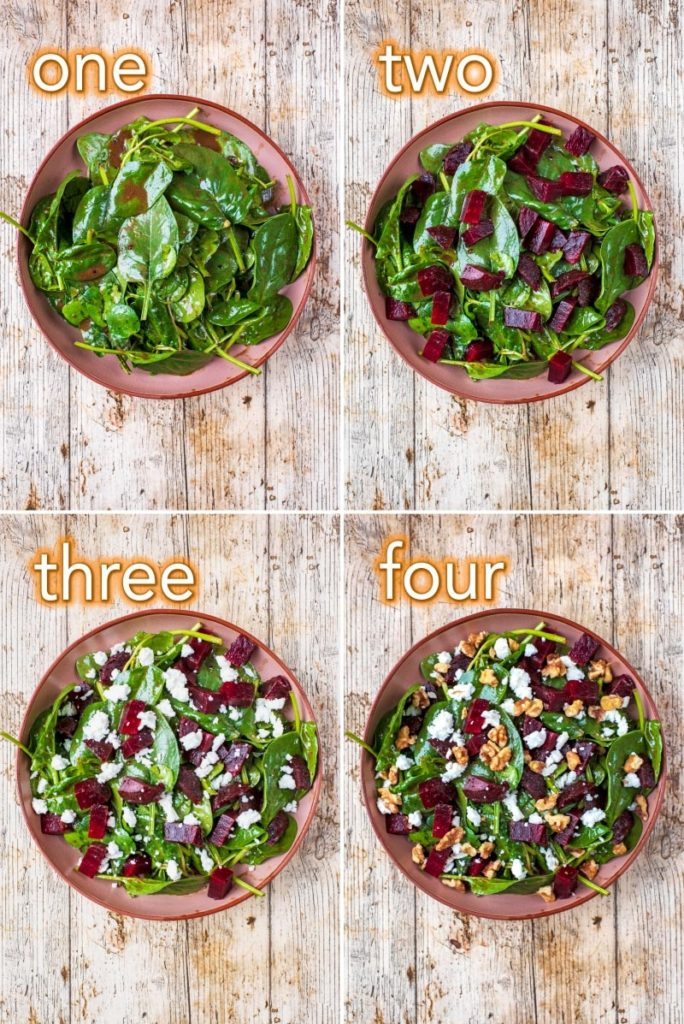 Step by step process of how to make Beetroot and Goat's Cheese Salad