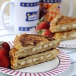 Banana and Almond Butter Stuffed French Toast