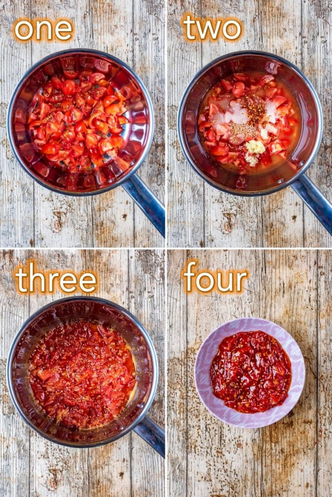 Step by step process to making Chilli Jam