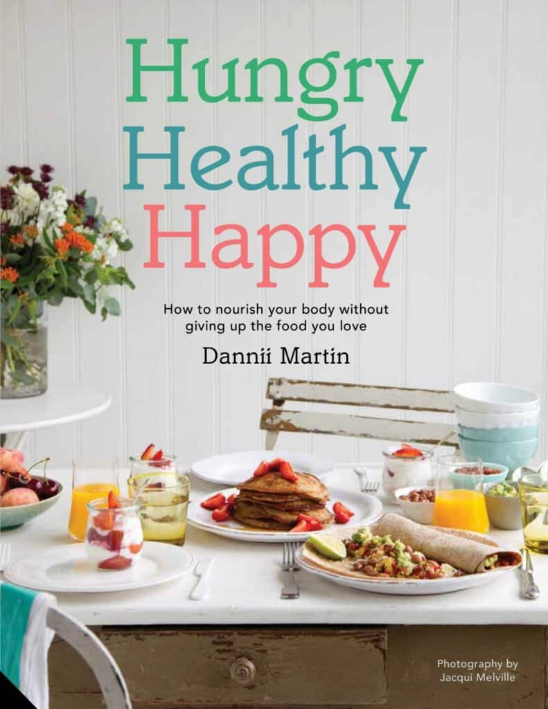 The front cover of the Hungry Healthy Happy book