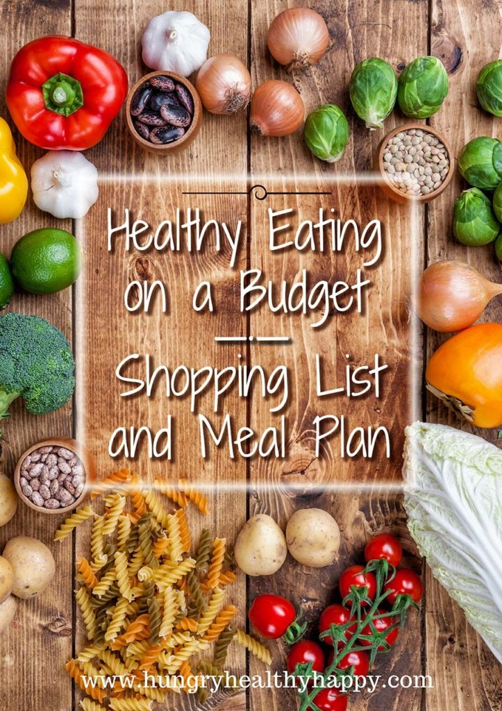 Healthy Eating On A Budget Shopping List And Meal Plan Hungry