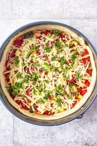 Deep Dish Pizza before cooking
