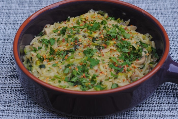 Mushroom and Spinach Risotto 2