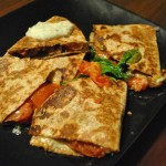 Roasted Tomato, Spinach and Black Bean Quesadillas