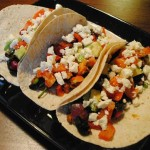 Spinach and Feta Tacos