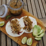 Slow Cooked Lime and Coriander (Cilantro) Chicken Tacos