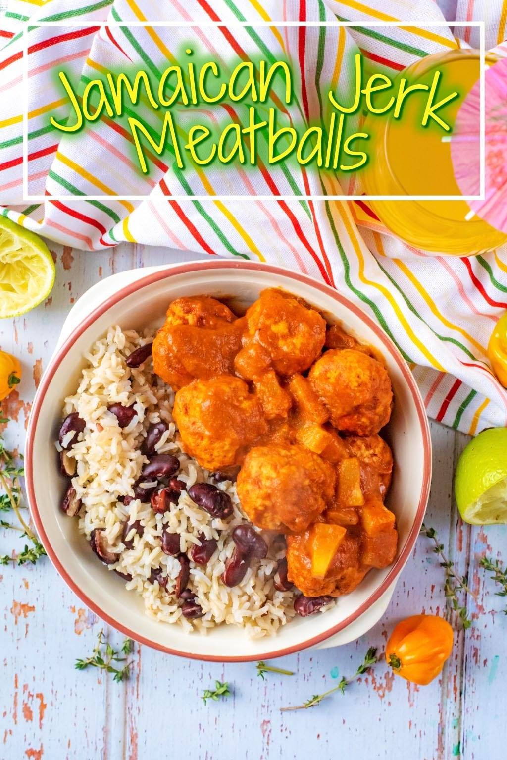 Seeing as we can't guarantee sunshine, even at this time of the year, we have to live vicariously through the food we eat. You can always bring a bit of sunshine in to your life with Jamaican food and these Jamaican Jerk Meatballs do just that!