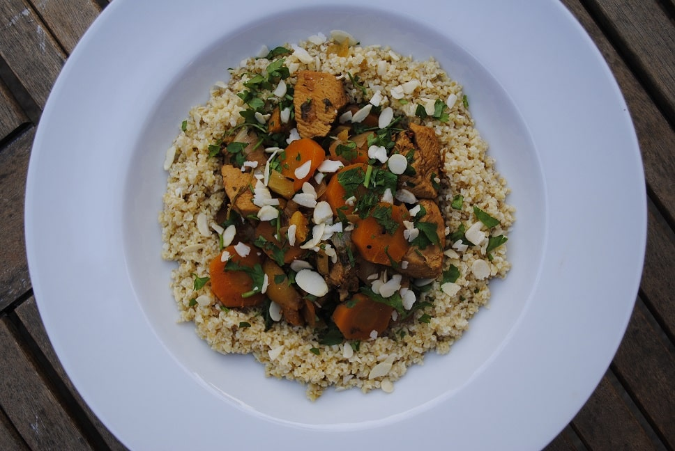 Chicken Tagine with Apricots and Almonds - Hungry Healthy ...