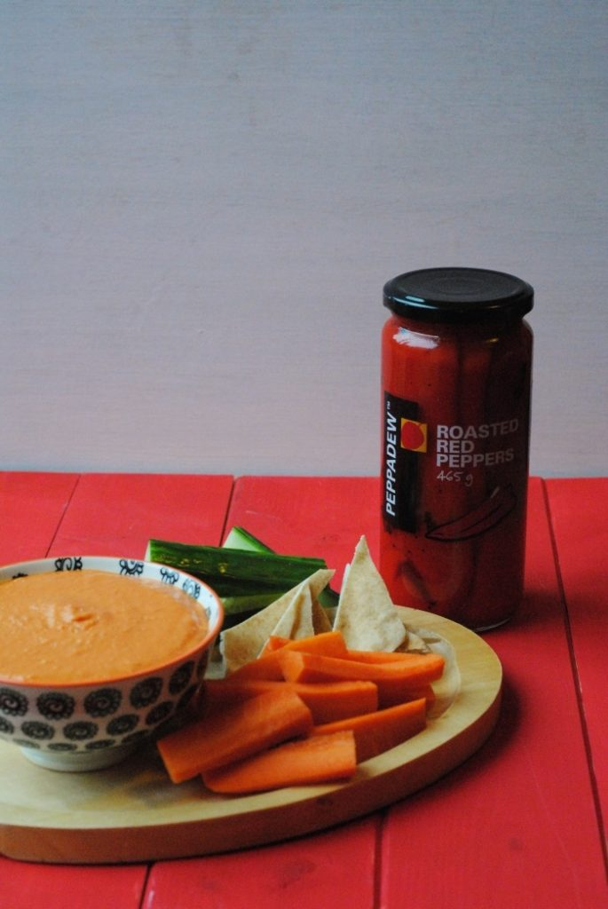 Roasted Red Pepper Hummus 2