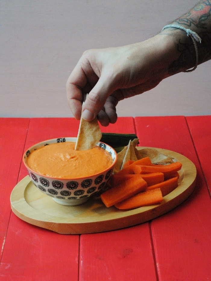 Roasted Red Pepper Hummus 5