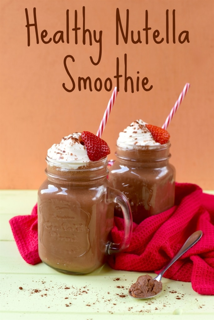 Healthy Nutella Smoothie title