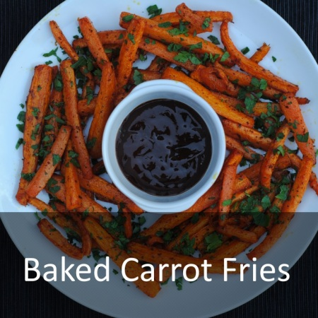 Baked Carrot Fries Featured