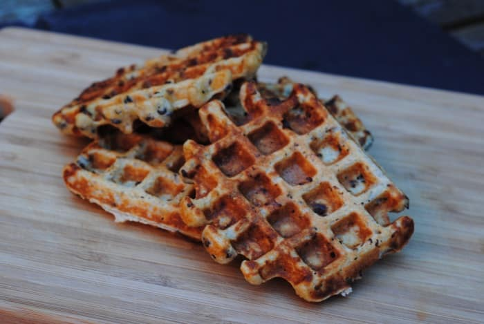Gluten Free Chocolate Chip Banana Waffles 1