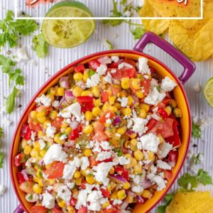 Sweetcorn Salsa title picture