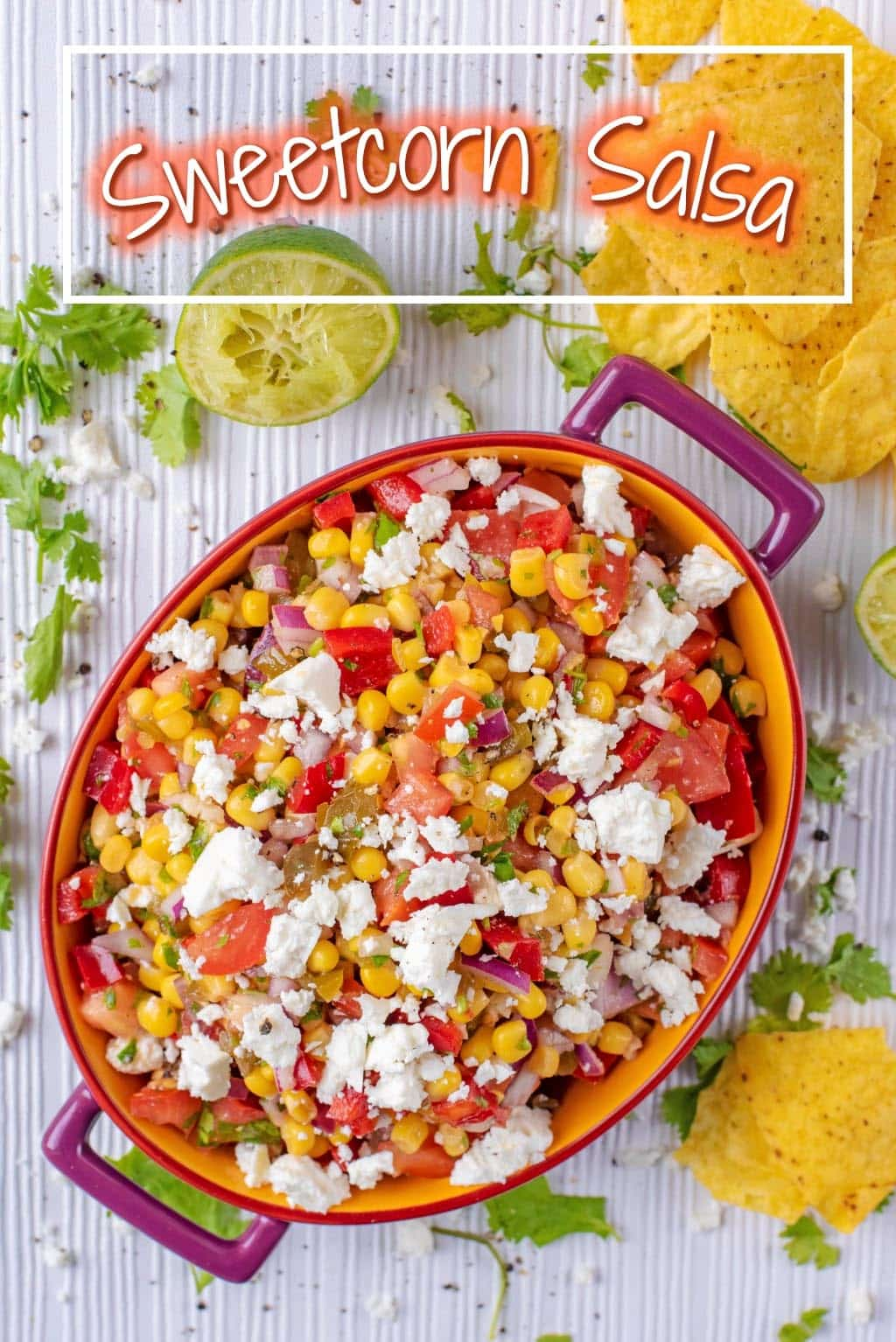 Healthy BBQ side dishes don't get much more colourful than this Sweetcorn Salsa. It's chunky, zesty and can be thrown together in less than 5 minutes. Serve it with some homemade burgers and use any leftovers in a grilled fish taco. This is a salsa that you need to make this summer.