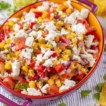 Landscape shot of Sweetcorn Salsa