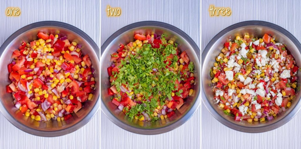 Sweetcorn Salsa steps