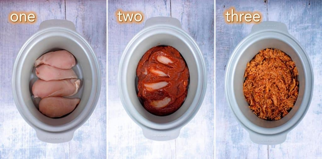 Step by step process of how to make Slow Cooker BBQ Chicken