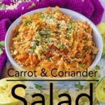 Six steps to making a carrot and coriander salad