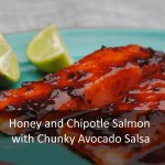 Honey and Chipotle Salmon with Chunky Avocado Salsa