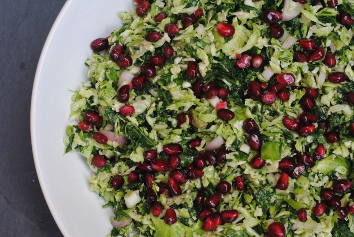 Kale and Brussels Sprout Salad 2