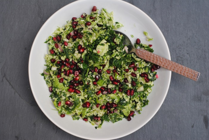 Kale and Brussels Sprout Salad 3