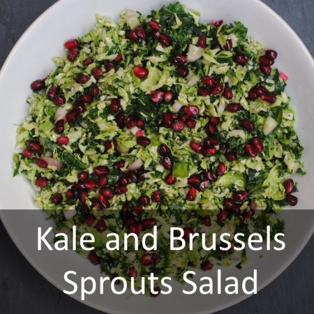 Kale and Brussels Sprout Salad Featured