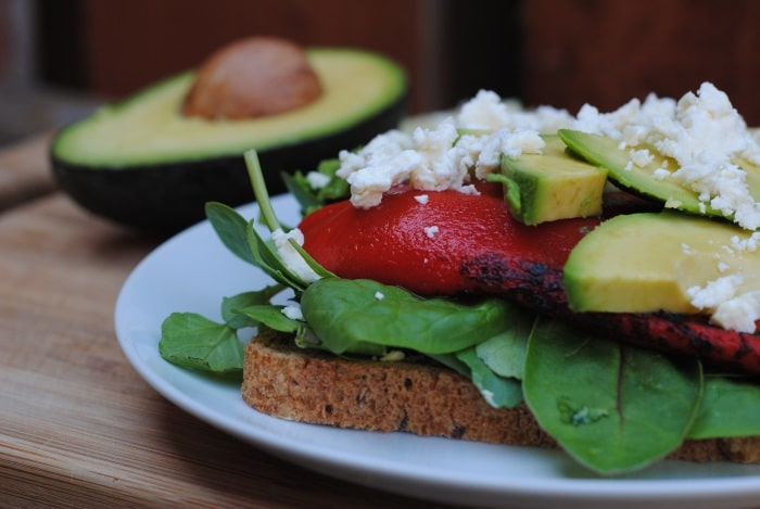 Feta, Avocado and Roasted Red Pepper Sandwich 2