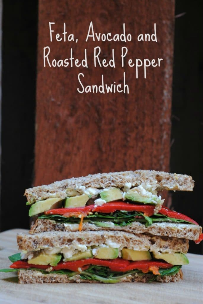 Feta, Avocado and Roasted Red Pepper Sandwich 3
