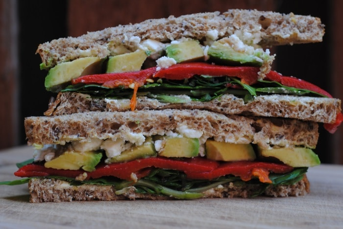 Feta, Avocado and Roasted Red Pepper Sandwich 4