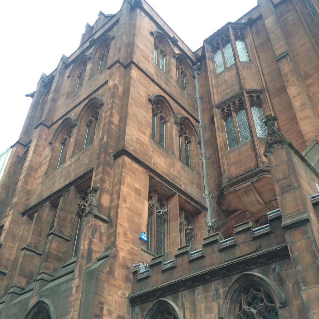 The view looking up at John Ryland's Library in Manchester