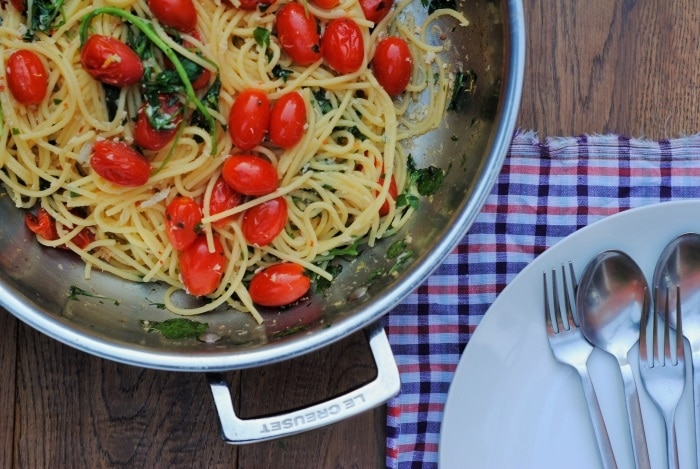Crab Spaghetti with Watercress and Tomato 3