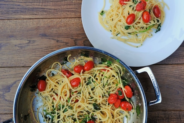 Crab Spaghetti with Watercress and Tomato 5