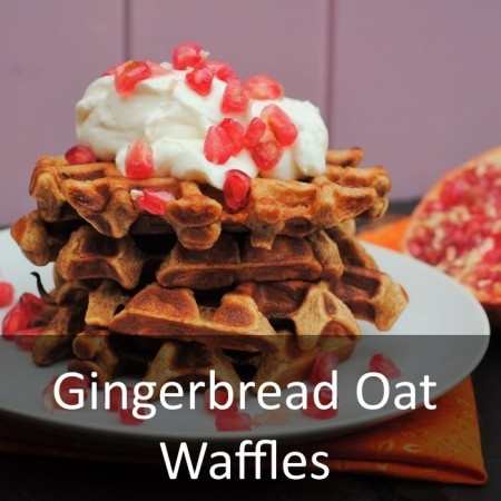 Gingerbread Oat Waffles Featured