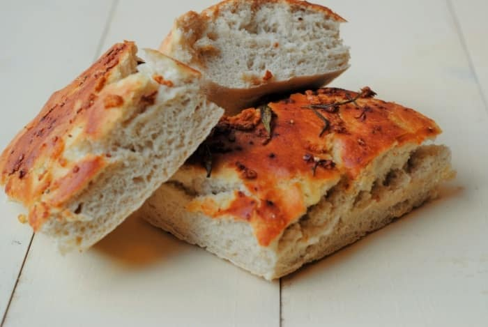 Garlic and Rosemary Focaccia - Hungry Healthy Happy