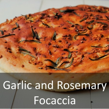 Garlic and Rosemary Focaccia Featured
