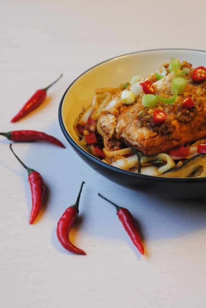 Ginger and Soy Salmon Noodles 5