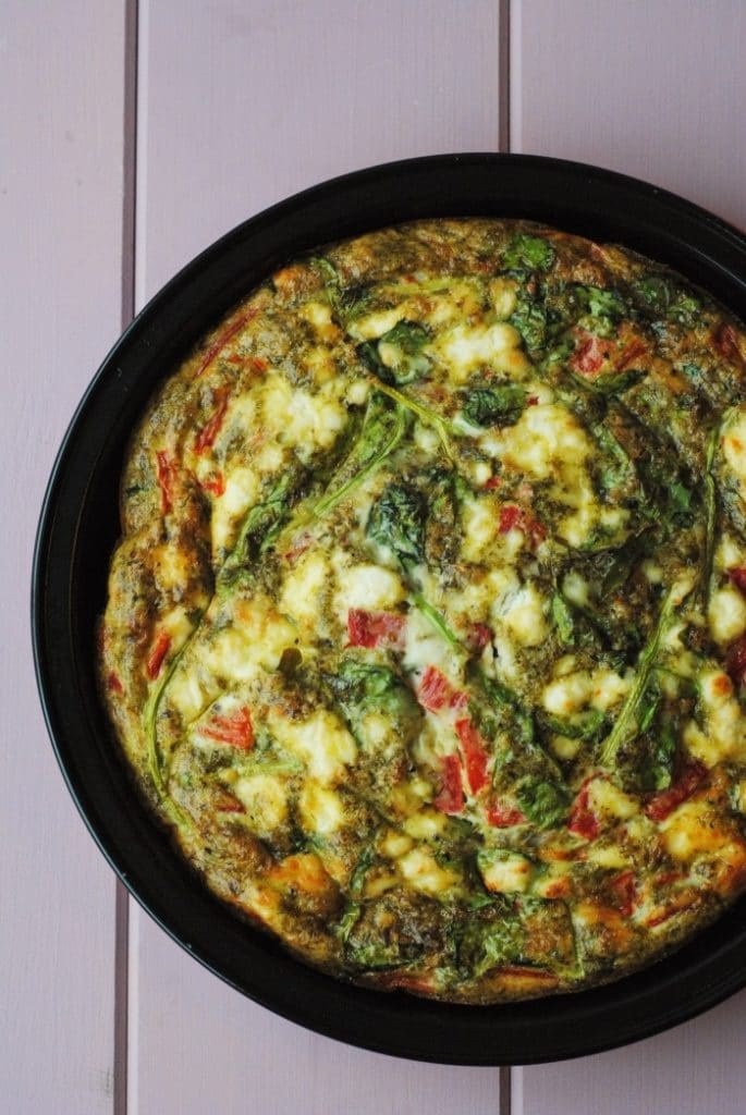 Roasted Red Pepper and Pesto Frittata 1
