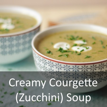 Creamy Courgette Soup Featured