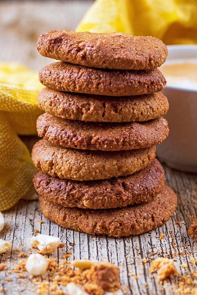 Ginger Snaps stacked in a tower