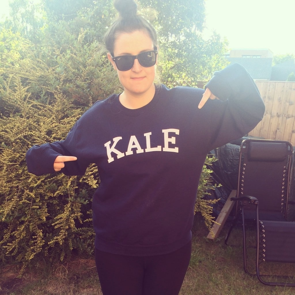 Dannii in Kale jumper