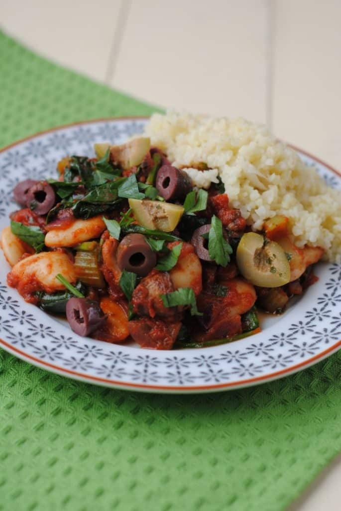 Spanish Butterbean and Spinach Stew 2