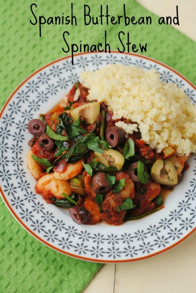 Spanish Butterbean and Spinach Stew 5