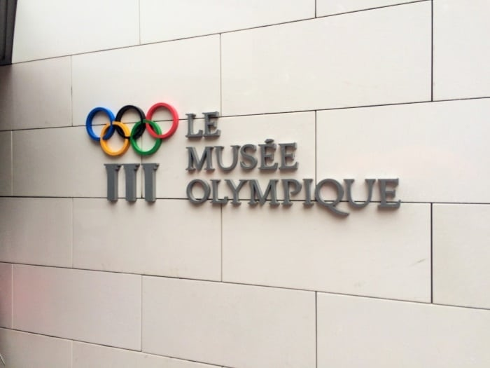The entrance to the Olympic Museum in Lausanne