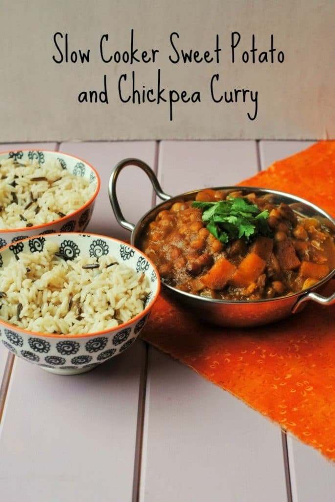 Slow Cooker Sweet Potato and Chickpea Curry 4 Edit