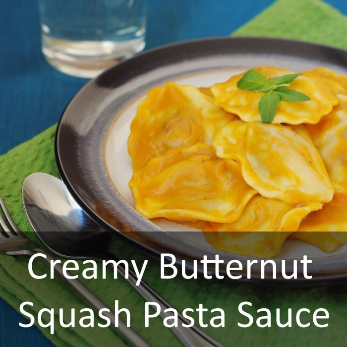 Creamy Butternut Squash Pasta Sauce - Hungry Healthy Happy