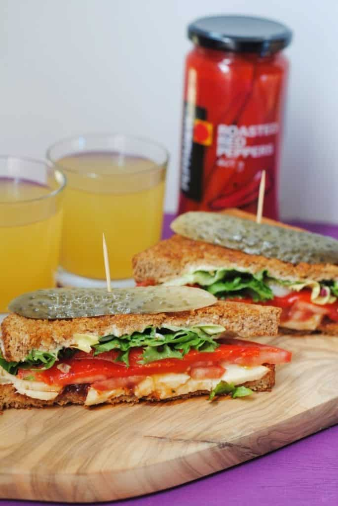Halloumi and Roasted Red Pepper Grilled Sandwich 2