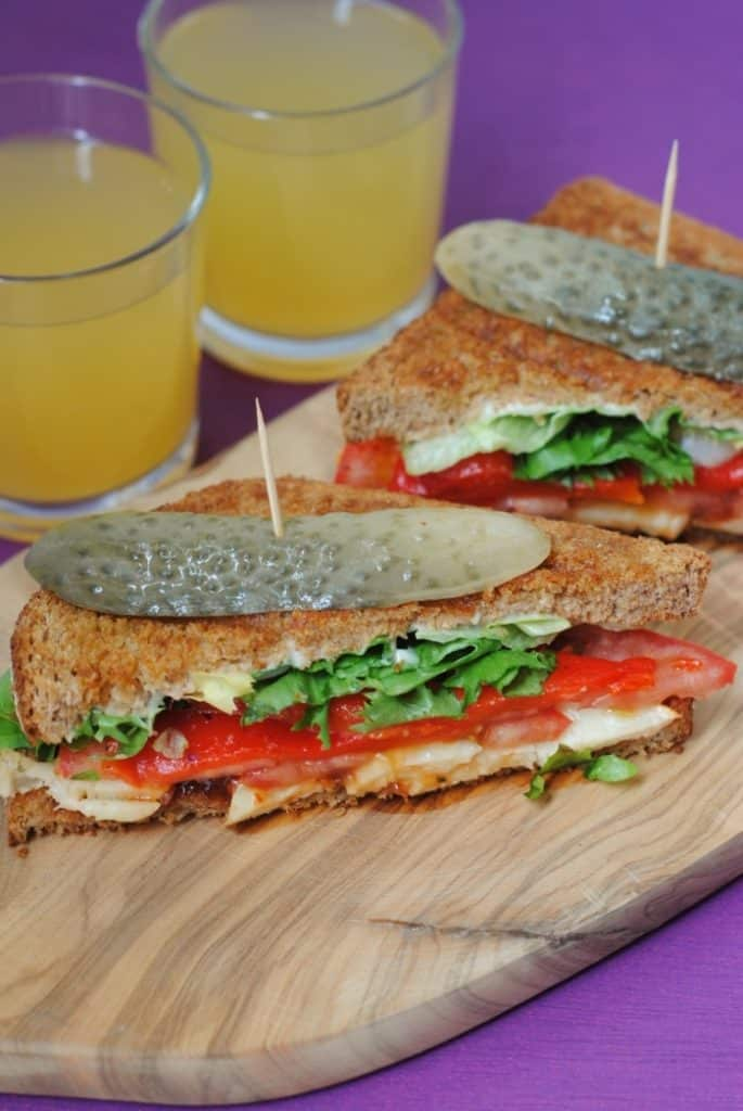 Halloumi and Roasted Red Pepper Grilled Sandwich 3